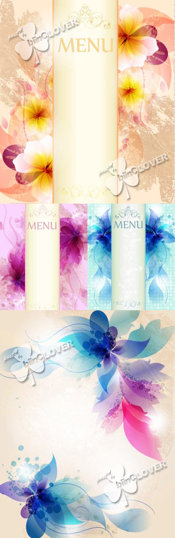 Gentle floral design menu 0243