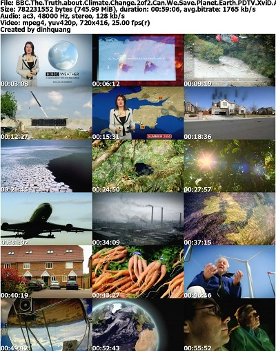 BBC - The Truth about Climate Change 2of2 Can We Save Planet Earth? (2012) PDTV XviD AC3-MVGroup